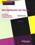 Marie Berchoud - Les épreuves sur texte - Catégories A et B.