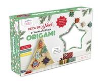 Marie Bretin et Mayumi Jezewski - Déco de Noël et guirlandes en origami - Avec 41 feuilles de papier origami, 20 perles, 7 mètres de fil or.