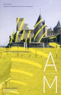 Marie-Caroline Allaire-Matte et Amancio Requena - Cercles concentriques excentriques - Felice Varini, château et remparts de la cité de Carcassonne.