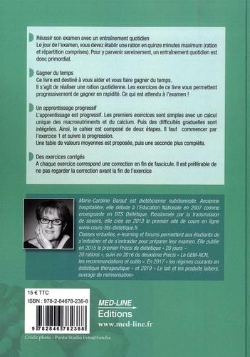 Cahier d'exercices BTS Diététique. 21 jours - 21 rations 3e édition