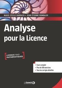 Marie-cecile Darracq et Jean-Etienne Rombaldi - Analyse pour la licence.