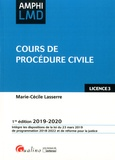 Marie-Cécile Lasserre - Cours de procédure civile.