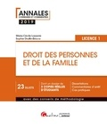 Marie-Cécile Lasserre et Sophie Druffin-Bricca - Droit des personnes et de la famille - Licence 1.