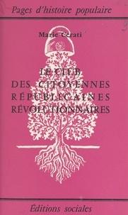 Marie Cerati - Le club des citoyennes républicaines révolutionnaires.