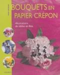 Marie Chevalier - Bouquets en papier crépon - Décorations de tables en fête.