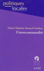 Marie-Christine Bernard-Gélabert - L'intercommunalité.