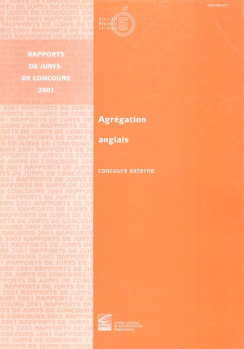 Marie-Christine Lemardeley - Agrégation anglais - Concours externe 2001.