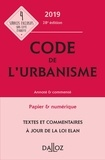 Marie-Christine Mehl-Schouder et Jacques-Henri Driard - Code de l'urbanisme annoté & commenté.
