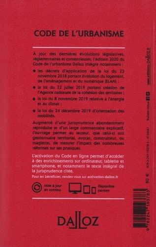 Code de l'urbanisme. Annoté & commenté  Edition 2020