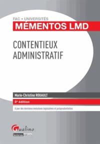 Marie-Christine Rouault - Contentieux administratif.