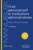 Marie-Christine Rouault - Droit administratif et institutions administratives.