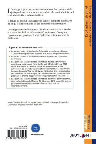 Droit administratif et institutions administratives  Edition 2020