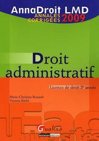 Marie-Christine Rouault - Droit administratif - Annales corrigées.