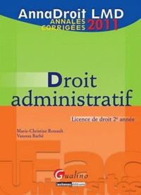 Galabria.be Droit administratif - Annales corrigées Image