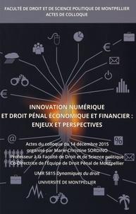 Marie-Christine Sordino - Innovation numérique et droit pénal économique et financier : enjeux et perspectives - Colloque du 14 décembre 2015.