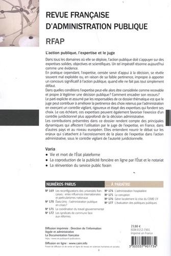 Revue française d'administration publique N° 173/2020 L'action publique, l'expertise et le juge
