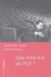 Marie-Claire Lavabre et François Platone - .