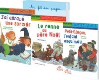 Marie-Claire Mzali-Duprat et Geneviève Huriet - Milan Benjamin - 6 x 3 romans pour la classe : J'ai attrapé une sorcière ; Le renne du père Noël ; Petit-Glaçon, l'enfant esquimau.