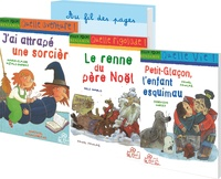 Marie-Claire Mzali-Duprat et Geneviève Huriet - Milan Benjamin - 15 x 3 romans pour la classe : J'ai attrapé une sorcière ; Le renne du Père Noël ; Petit-Glaçon, l'enfant esquimau.