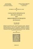 Marie-Claire Waille - Catalogues régionaux des incunables des bibliothèques publiques de France - Volume 19, 2 volumes.