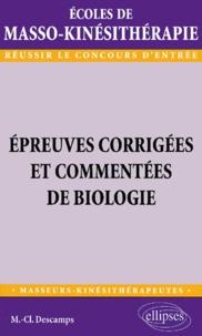 Galabria.be Epreuves corrigées et commentées de biologie. Ecoles de masso-kinésithérapie Image