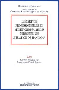 Marie-Claude Lasnier - L'insertion professionnelle en milieu ordinaire des personnes en situation de handicap.