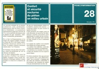 Marie-Claude Montel - Confort et sécurité nocturne du piéton en milieu urbain.