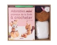 Marie Clesse - Coffret adorables mini animaux de la forêt à crocheter - Avec 1 crochet, des pelotes, 4 yeux de sécurité, rembourrage.