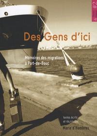 Marie d' Hombres - Des Gens d'ici - Mémoires des migrations à Port-de-Bouc.