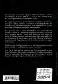 Marie Delporte et Janine Martig - Vocabulaire thématique espagnol contemporain.
