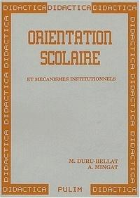 Marie Deru-Bellat et Alain Mingat - .