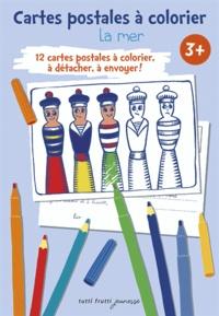 Marie Détrée - La mer - Cartes postales à colorier.