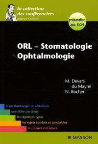 Marie Devars du Mayne et Nicolas Rocher - ORL-Stomatologie-Ophtalmologie.