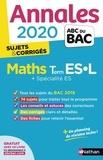 Marie-Dominique Danion - Mathématiques Tle ES-L spécifique & spécialité - Sujets & corrigés.
