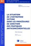 Marie Dumarçay - La situation de l'entreprise victime dans les procédures de sanction des pratiques anticoncurrentielles - Etude des procédures françaises et européennes d'application du droit européen des pratiques anticoncurrentielles.