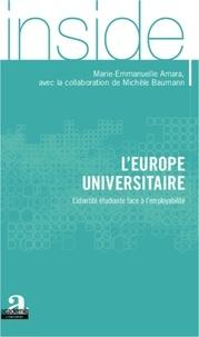 Marie-Emmanuelle Amara - L'Europe universitaire - L'identité étudiante face à l'employabilité.