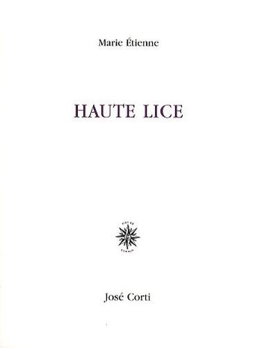 Marie Etienne - Haute Lice.