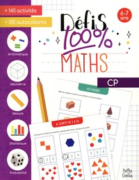 Marie-Eve Côté - Défis 100% maths CP - Avec 100 autocollants.