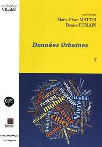 Marie-Flore Mattei et Denise Pumain - Données urbaines - Tome 7.