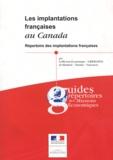 Marie Flore Morius - Les implantations françaises au Canada - Répertoire des implantations françaises.