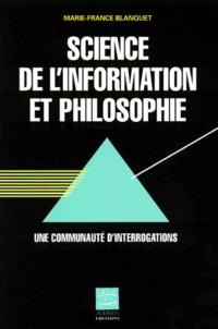 SCIENCE DE LINFORMATION ET PHILOSOPHIE. Une communauté dinterrogations.pdf