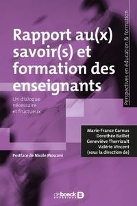 Rhonealpesinfo.fr Rapports au(x) savoir(s) et formation des enseignants - Un dialogue nécessaire et fructueux Image
