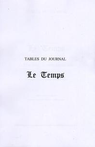 Marie-Françoise Putois et François Putois - Tables du journal Le Temps - 13 juin 1940 - 30 novembre 1942, 4 tomes.