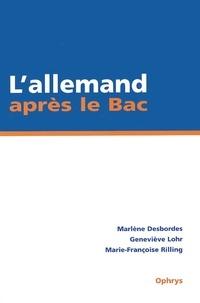 Marie-Françoise Rilling et Marlène Desbordes - .