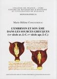 Marie-Hélène Congourdeau - L'embryon et son âme dans les sources grecques (VIe siècle av. J.-C. - Ve siècle apr. J.-C.).