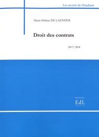 Marie-Hélène De Laender - Droit des contrats.