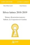Marie-Hélène Garelli et Gérard Salamon - Silves latines - Térence, Heautontimoroumenos ; Salluste, La Conjuration de Catilina.
