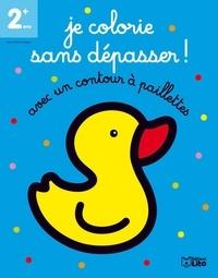 Marie-Hélène Grégoire - Je colorie sans dépasser ! - Le canard. Avec un contour en paillettes.