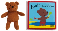 Cjtaboo.be Louis l'ours brun - Livre de bain rempli d'air et personnage en éponge Image