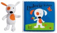 Deedr.fr Ludovic le chien - Livre de bain rempli d'air et personnage en éponge Image